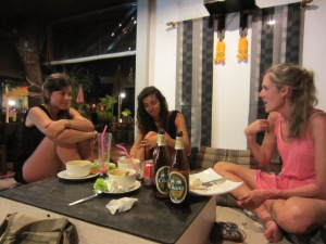 Sharing a meal and stories with new friends, one of my favorite parts of travel