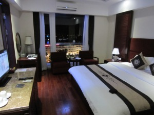 My room in the Moonlight Hotel Hue