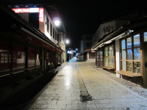 Empty streets of Sarajevo, finally peaceful.